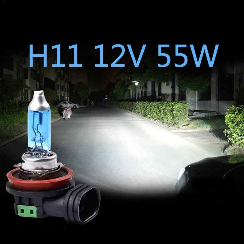 2Pcs H11 100W Super White Bulb H11 55W Fog Light High Power Car Headlights Lamp Light Source Parking Auto 6000K 12V