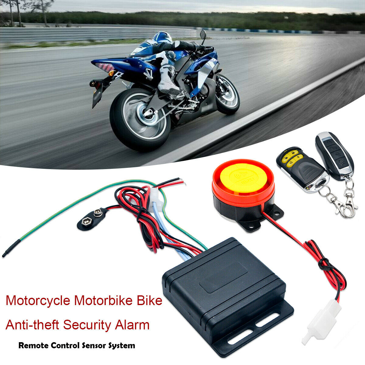 Universally Anti-theft Motorbike Alarm System Immobiliser Security Remote Control Alarm For Motorcycle