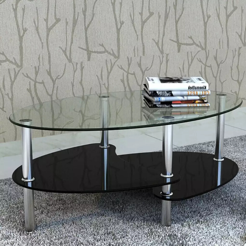 VidaXL Outdoor Tables Tempered Glass Metal Frame Assembly Modern Cafe Table Home Furniture Living Room Coffee Table