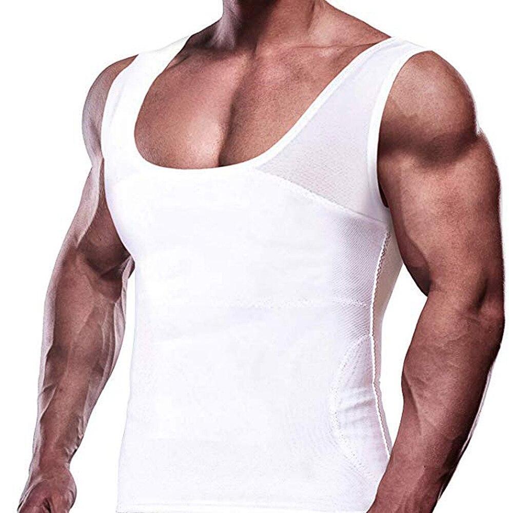 Men's Elastic Sculpting Vest Compression Slim Compression Muscle Shapewear For Men