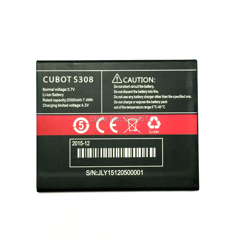 2000mAh 2019 New <font><b>battery</b></font> For <font><b>CUBOT</b></font> <font><b>S308</b></font> Batterij Bateria high quality image