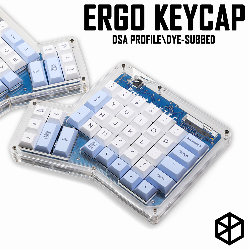 dsa ergodox ergo pbt dye subbed keycaps custom mechanical keyboards Infinity ErgoDox Ergonomic Keyboard keycaps light