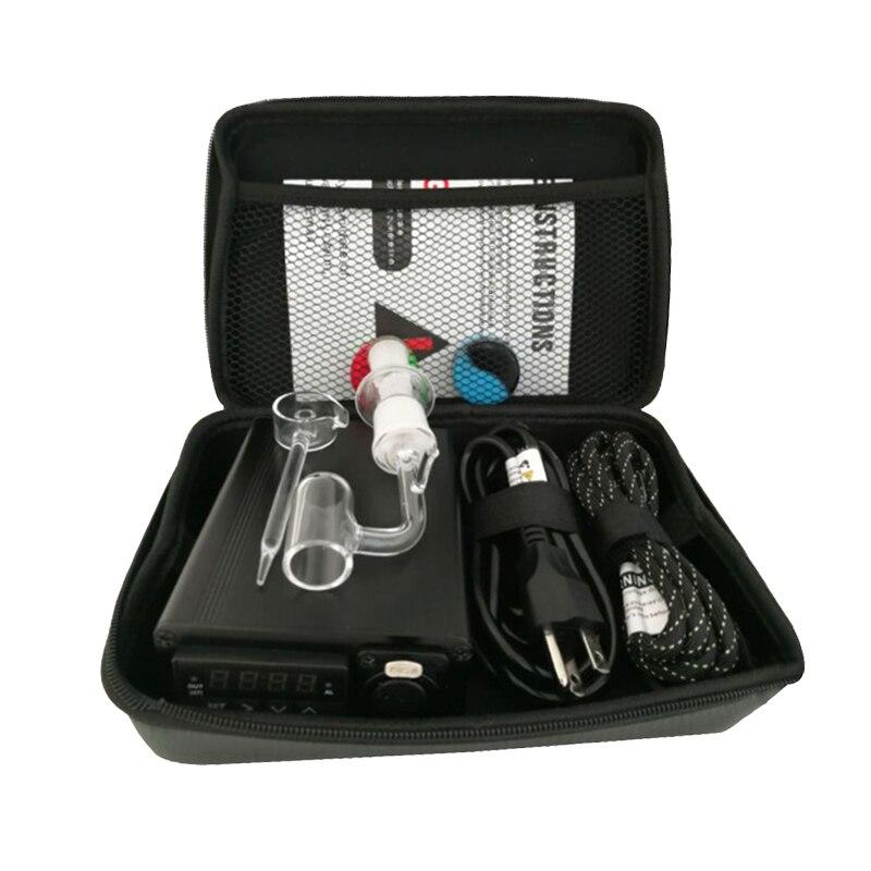 Banger E Quartz Nail Electric Dab Nail Box Kit Quartz Nail Carb Cap 14 18 MM Male Temperature Controller Rig glass Bongs BD54C