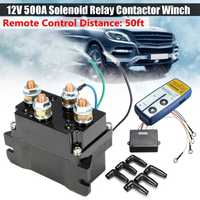 Universal Solenoid Twin Wireless Remote Control Controller Recovery 12V 500Amp HD Contactor Winch Control For Car ATV SUV Truck
