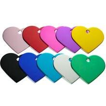 Оптовая продажа 100 шт ярлык в форме сердца ошейник персонализированные