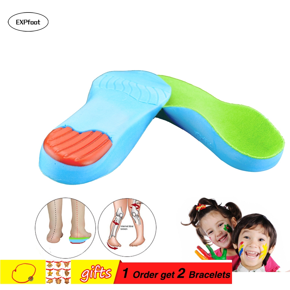 Kid's orthopedic Insoles for Children Shoes Flat Foot Arch Support Orthotic Pads Correction Health Feet Care Insole 3-18 age children arch support orthopedic insoles flat foot orthotic cushion pads correction health feet care for children shoes insoles