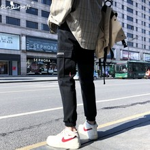 2019 Spring And Summer Mens Casual Sports Pants Tooling Hip Hop Street Trousers Running