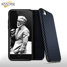 KISSCASE Carbon Fiber Pattern Phone Case For iPhone X Ten 5 5S SE Cases Fashion Soft PU TPU Phone Cover For iPhone 6 6S 7 8 Plus castle pattern protective tpu pu case w stand for iphone 6 plus 5 5 multicolored