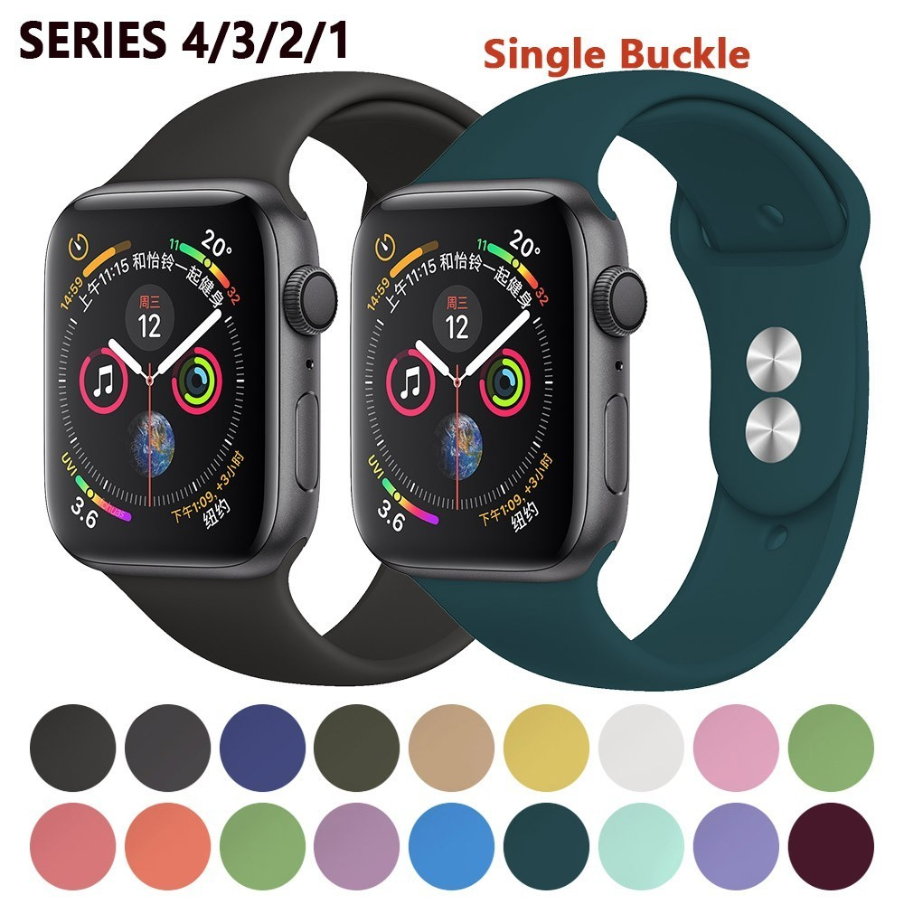 Silicone Strap For Apple Watch Band 42mm 4 3 Iwatch Band 38mm 44mm 40mm Pulseira Correa Bracelet Smart Watch Accessories Loop