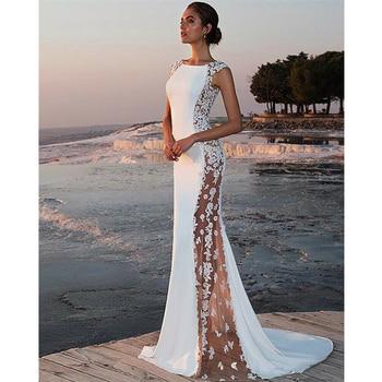 78d2850db2ff Mujer elegante Formal Fiesta blanco Maxi sirena vestido Shein ...