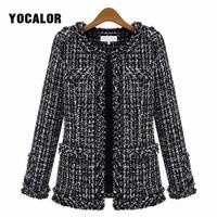 2018 Spring Autumn Coats Women Windbreaker Uk Casaco Feminino Manteau Femme Hiver Female Overcoat Cape Coat Woman Cloak Tweed
