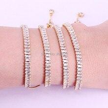 10 قطعة جديد حار مكعب الزركونيوم الأبيض تمهيد اجمل صيحات الموضة قابل للتعديل سوار مجوهرات للنساء