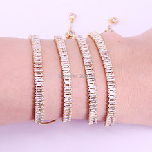 10Pcs Hot New White Cubic Zirconia Pave Nicest Adjustable Fashion Trend Women Bracelet Jewelry
