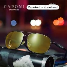Caponi Classic Sunglasses  Mens Polarized Day&Night Vision Driving Anti-glare Vintage Sun Glasses Eyewear BSYS10001
