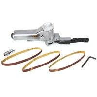 16000rmp Pneumatic Air Belt Sander With Sanding Belt For Air Compressor Woodworking Furniture Polisher Grinding Machine Tool