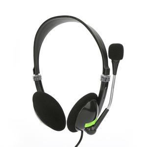 Image 3 - コンピュータ有線ヘッドセットとマイクセンターサポートゲーム音声聴覚音楽ステレオ 3d サウンド 3.5 ミリメートルインターフェースヘッドホン