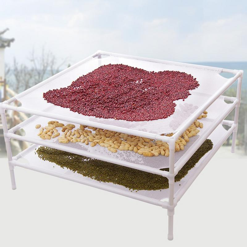 Floor-mounted Clothes Storage Net Overlay Balcony Mesh Laundry Drying Rack Household Grain Rack  Sweater Hanger