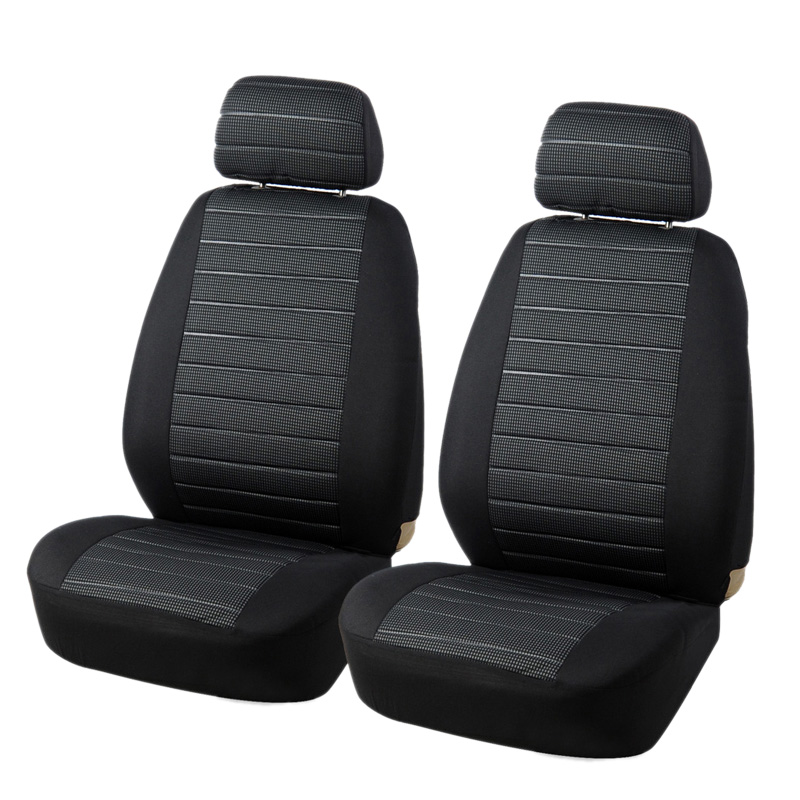 NEW-Car Universal Front Seat Cover Jacquard Cushion Seat Interior Seat Cover