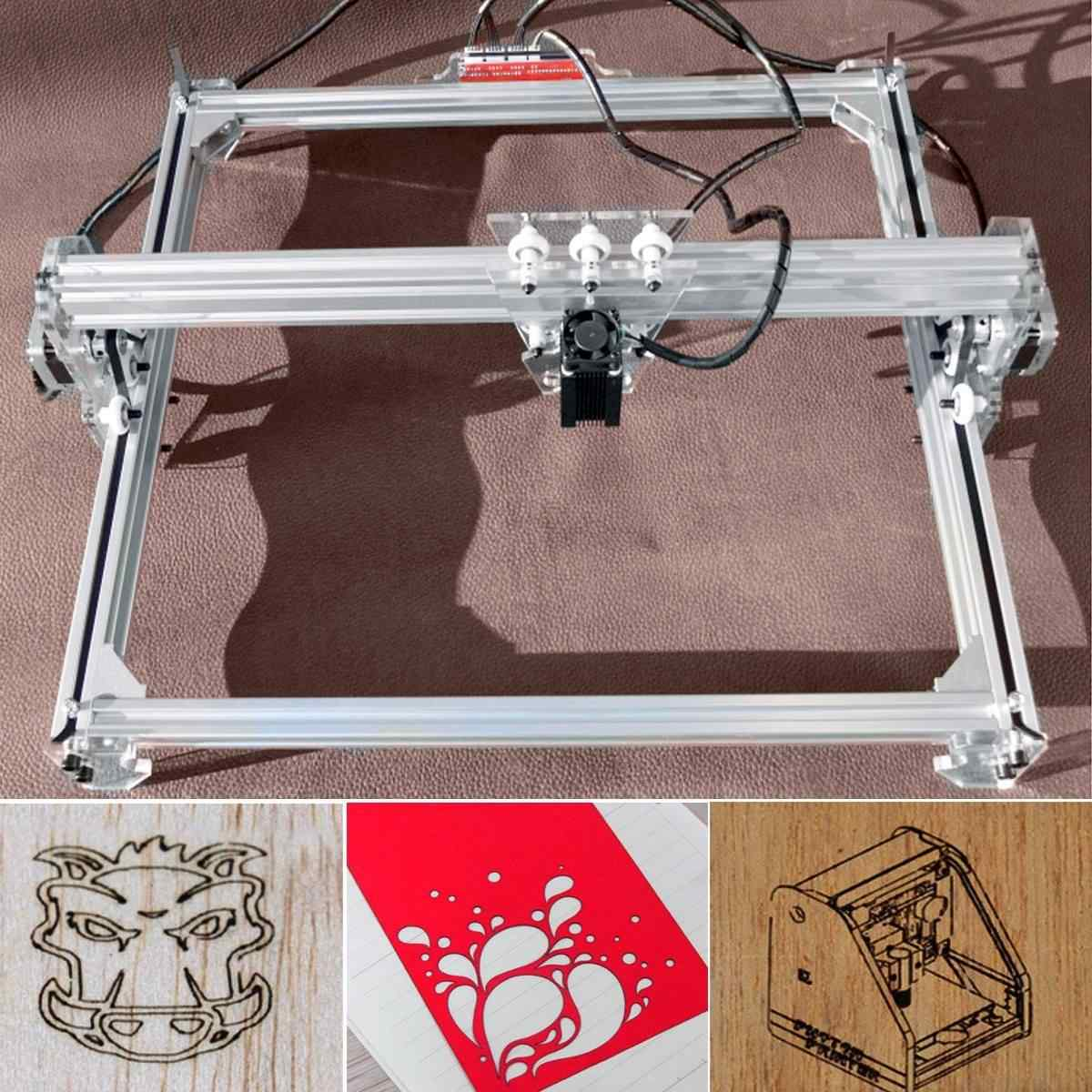 15 W/3000 mw 50*65cm CNC grabador láser máquina de grabado para Metal/ENRUTADOR de madera/cortador DIY 2 ejes grabador cortadora de escritorio + láser