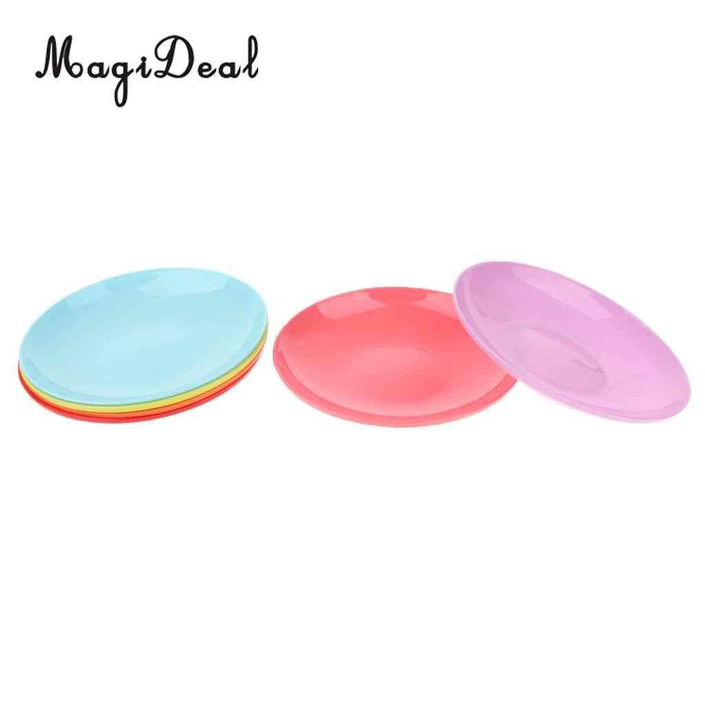 6 조각 휴대용 플라스틱 피크닉 캠핑 바베큐 파티 저녁 식사 접시 칼 붙이, 가볍고 휴대가 편리
