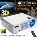 5000 Lumens 1080P Full HD 3D LED Projector Android 4.4 Home Theater Cinema Multimedia Wireless HDMI USB AV with Remote Control