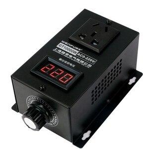 Image 4 - 10000W גבוהה כוח סיליקון אלקטרוניקה מתח רגולטור מכונות חשמלי משתנה מהירות בקר 0V 220V