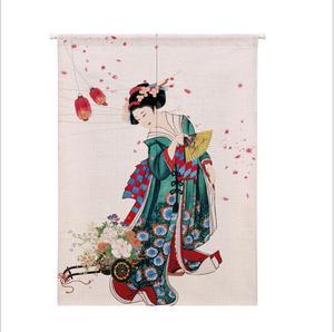 Image 1 - XIAOKENAI Vải Lanh Cotton Màn Nửa Màn Nhà Bếp Nhật Bản Phòng Ngủ Trang Trí Nhà Phân Vùng Màn Rèm Nhà Tắm