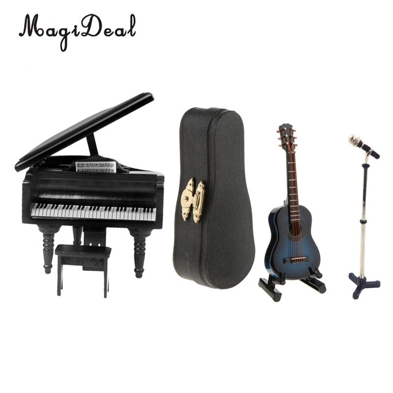 1//6 Musical Instrumental Microphone Toy with Box for Action Figures Doll