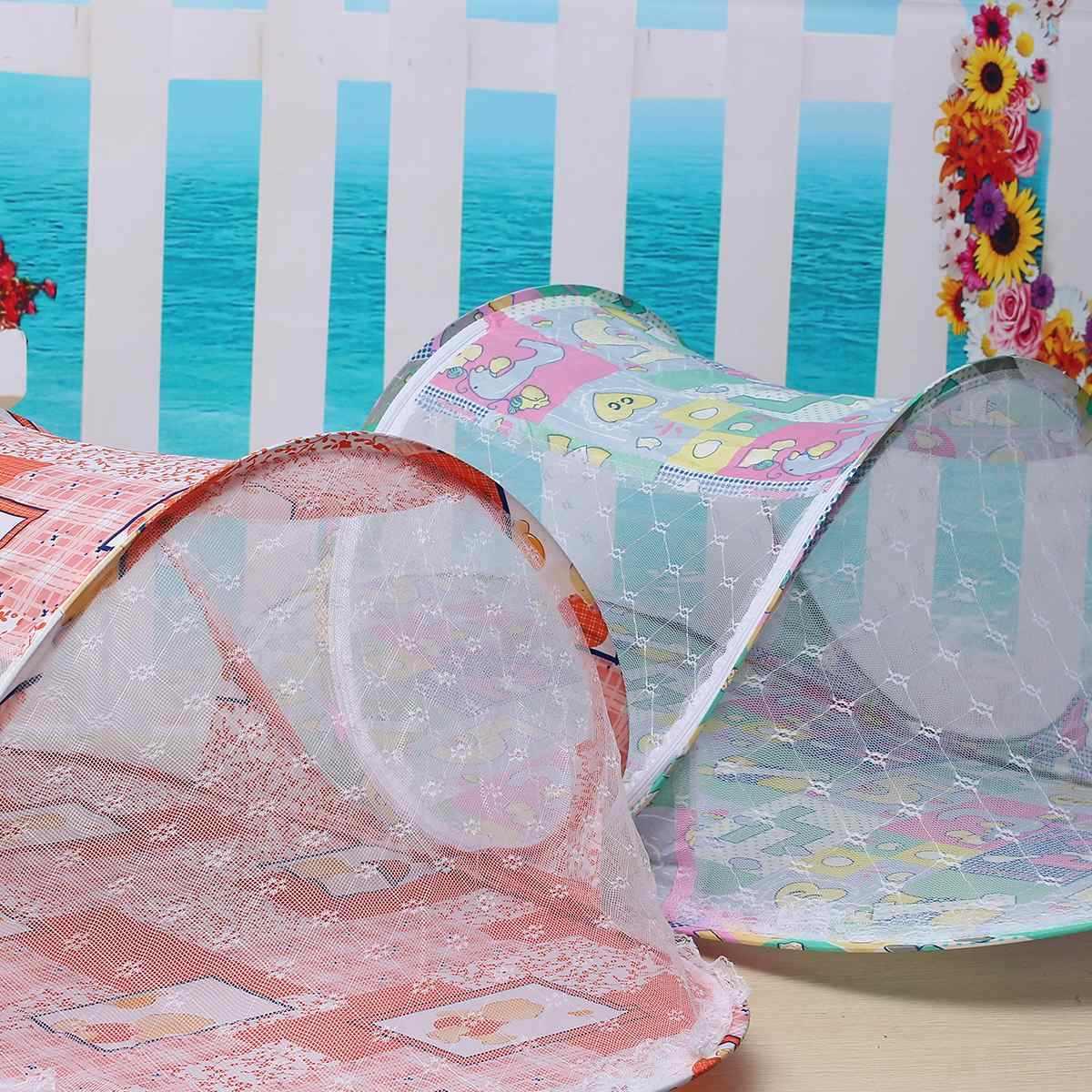 110x60x38 см складной мультфильм для маленьких детей сетки от комаров Ger балдахин на кровать матрас милый розовый зеленый палатка путешествия