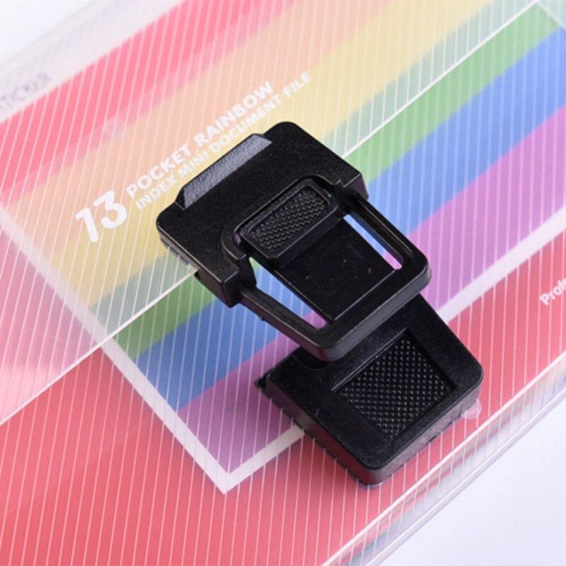 EZONE A6 Document Bag Expanding Wallet 13 Grids Cute Rainbow Color Mini Bill Receipt File Bag Pouch Folder Organizer File Holder