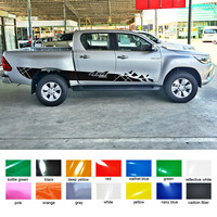 free shipping 2 PC side door 4X4 off road shards stripe vinyl graphics decals for toyota hilux revo