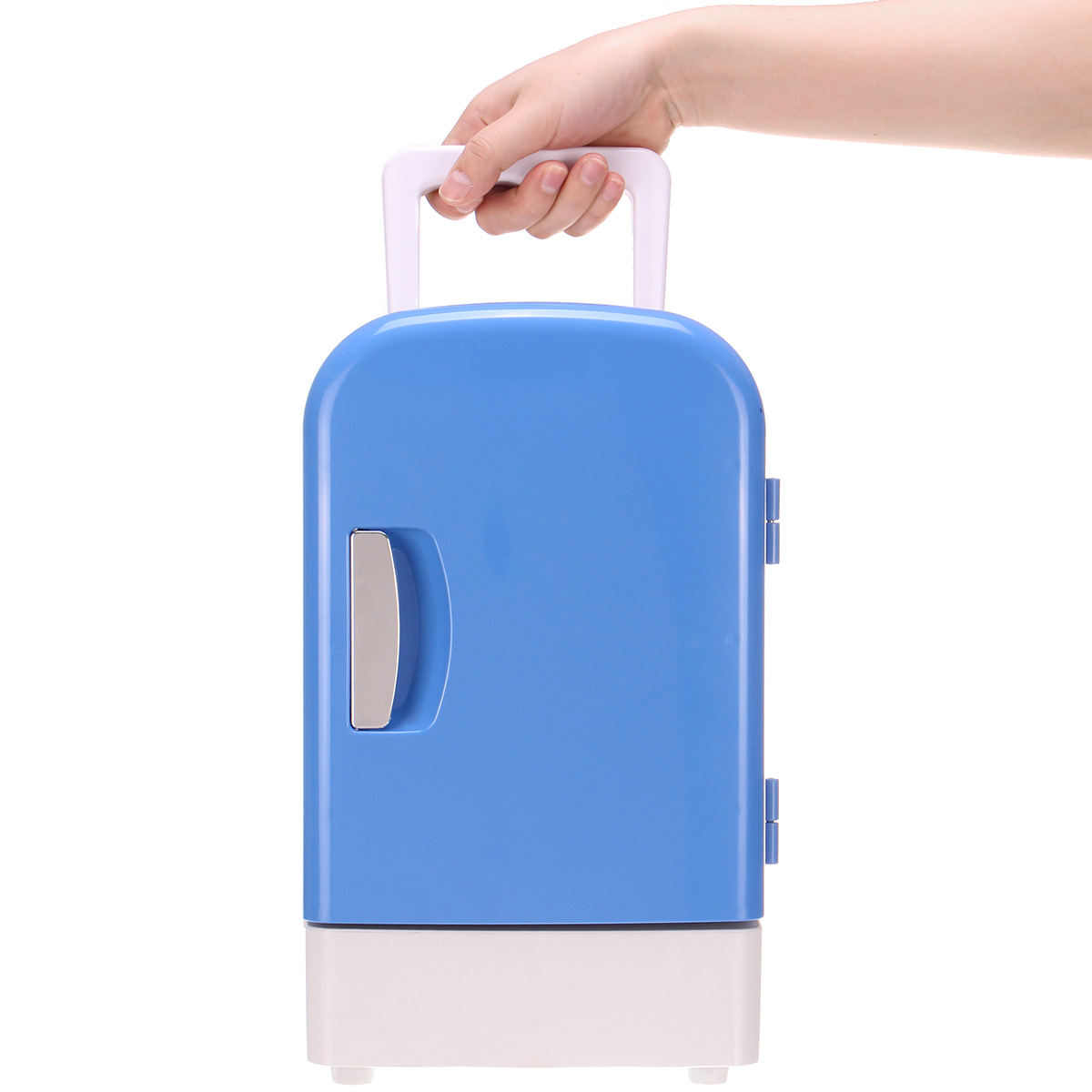 DC 12V Portable Mini Home Car 4L Dual-use Semiconductor Insulation Refrigerator Low Noise Freezer Cooling Heating Box Fridge