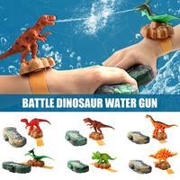 6PCS Dinosaur Shape Water Gun Toys Wrist Type Kid Mini Sprayer Beach Toy Water Fight Pistol Swimming Wrist Water Guns Boy Gift