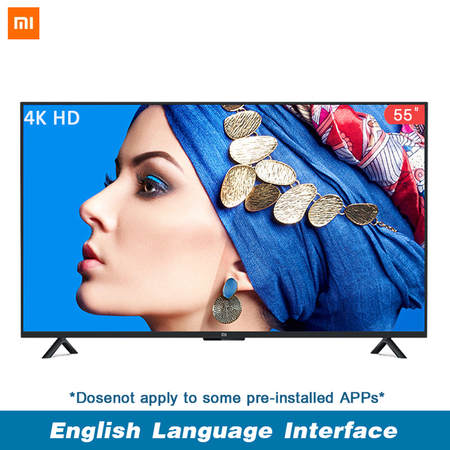 Xiaomi Smart 4A 55 inches 3840*2160 FHD Full 4K HD Screen TV Set HDMI WIFI Ultra-thin 2GB Ram 8GB Rom Game Play Display Dolby So