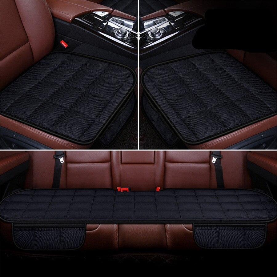 5 Seat 3D подушка для сиденья автомобиля бамбуковый уголь дышащая Передняя Задняя Подушечка Для сиденья для всех подушка для автомобильного кр... - 3