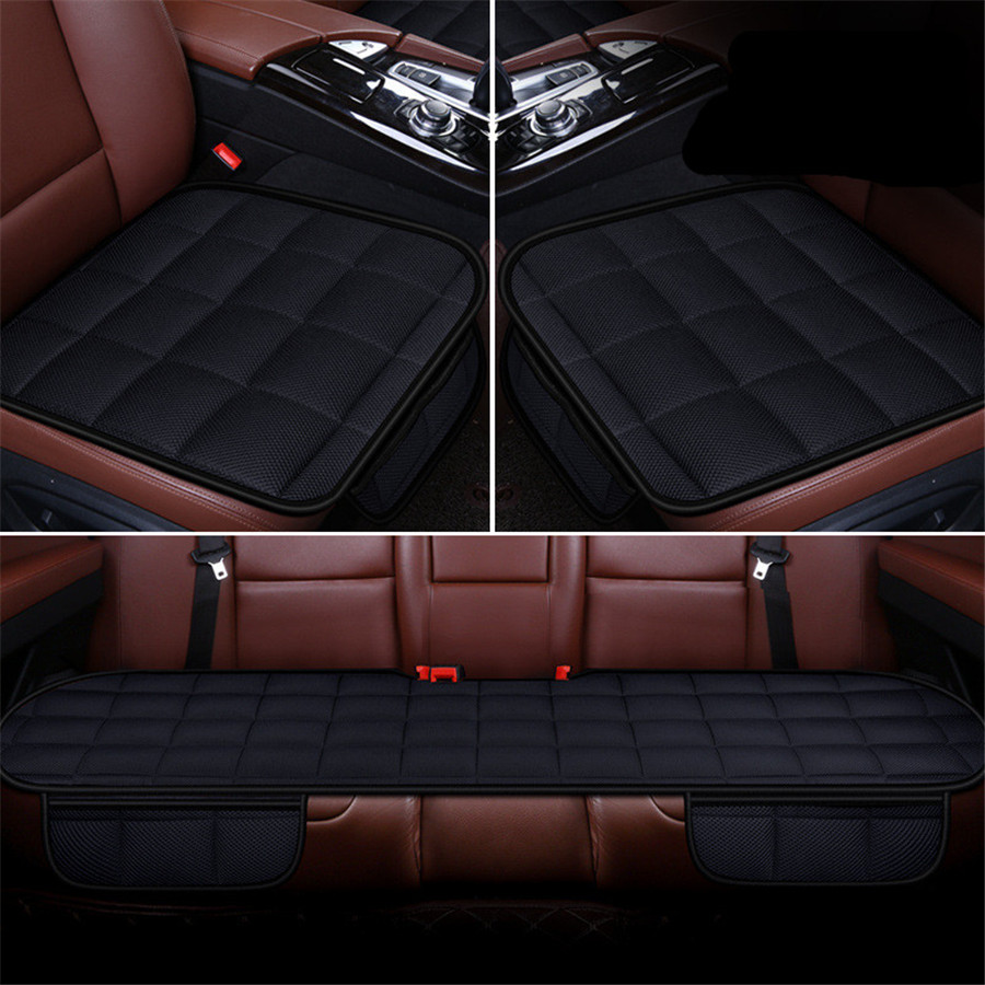 5 Seat 3D Car Seat Cushion Bamboo Charcoal Breathable Front Back Rear Seat Cover Pad For All Car Chair Pad Car Styling - 3