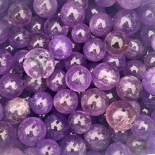 Natural amethyst ball Brazilian amethyst ball for the wholesale of Buddha water  natur stones and crystals natural rose oil painting flower carving jewelry diy natur stones and crystals