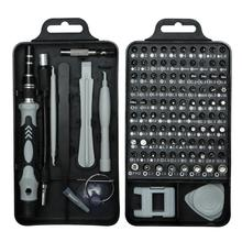 110-In-1 Precision Screwdriver Tool Set 98 Different Screw Bits Multi-Function Repair Tool Kit For Clock Notebook Cellphone
