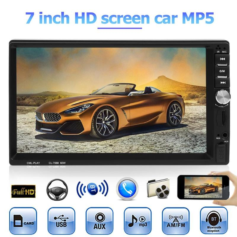 "VODOOL 7088B 2Din 7"" Touch Screen Car Stereo MP5 Player 1024*600 HD Bluetooth Media Player FM Radio Audio With Rearview Camera"