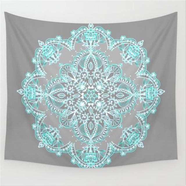 Lotus Mandala Boho Tapestry