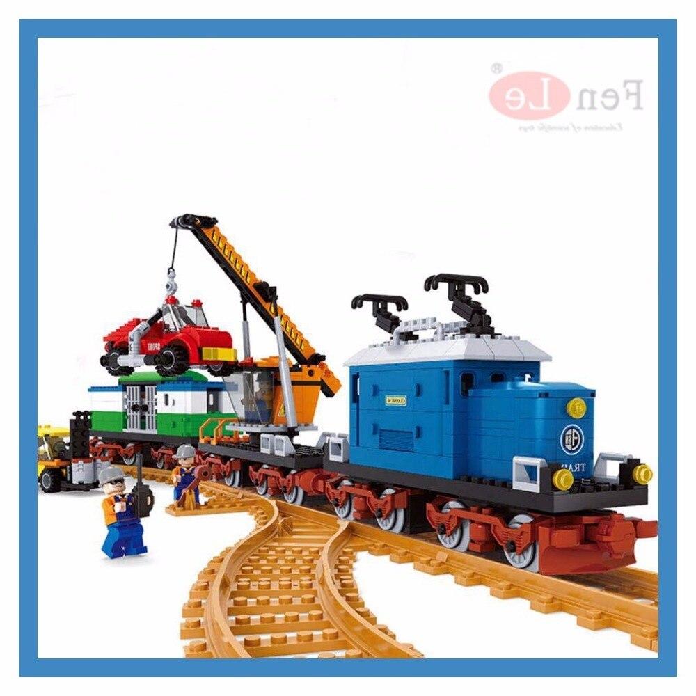 Ausini Kits de construction de modèles compatibles avec le Train technique blocs 3d modèles éducatifs et jouets de construction loisirs pour enfants