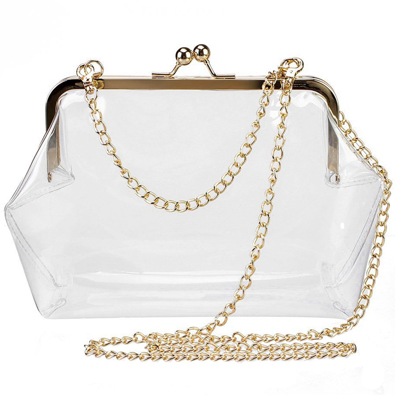 Clear Purse Crossbody Messenger Shoulder Bag For Women Chain Strap(Transparent Color)Clear Purse Crossbody Messenger Shoulder Bag For Women Chain Strap(Transparent Color)
