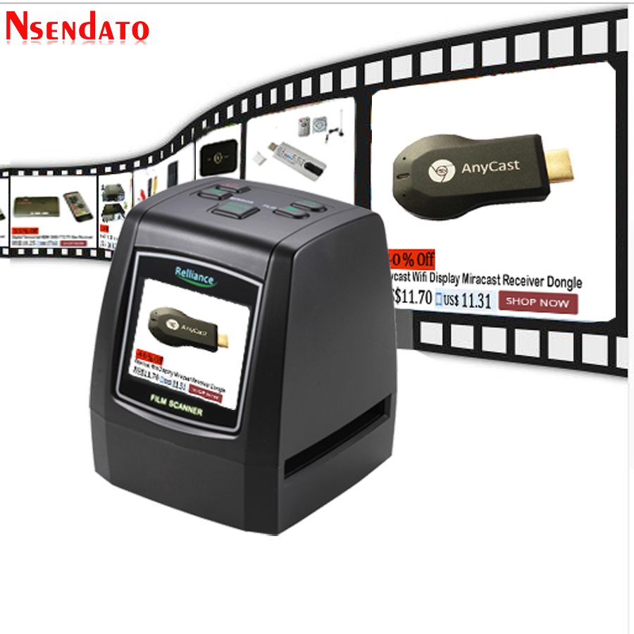 High Resolution 14MP 22MP 110 135 126KPK Super 8MM Negative Photo Scanner 35mm 2 4 LCD