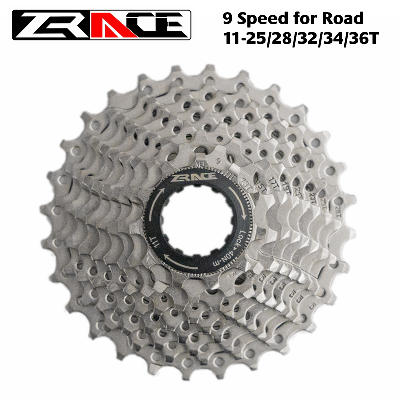 ZRACE Bicycle Cassette 9 Speed Road / MTB bike freewheel <font><b>11</b></font>-25T / 28T / 32T / 34T / <font><b>36T</b></font>, Compatible with Alivio / Acera / SORA image