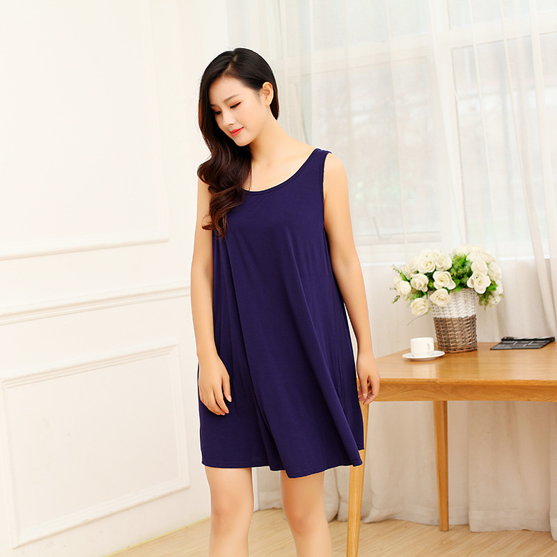2019 Size 3XL Summer Nightdress For Women Modal Cotton Sleepwear Comfortable Nightshirts   Nightgowns   Nightwear   Sleepshirts