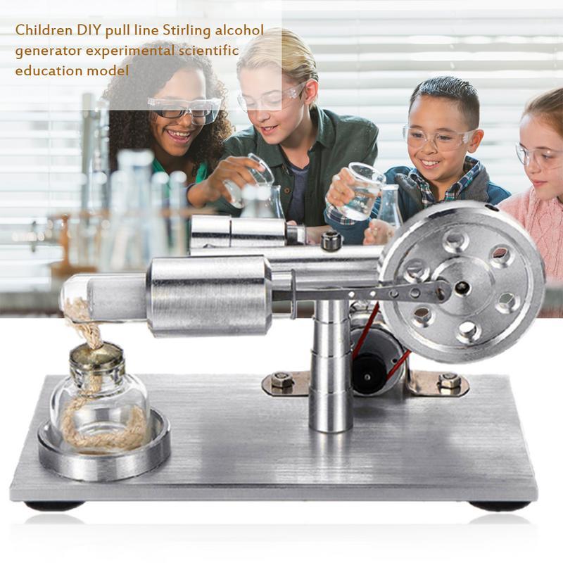 Modèle de moteur Stirling à Air chaud jouet éducatif générateur d'électricité Science physique expérience jouet pour enfants adultes
