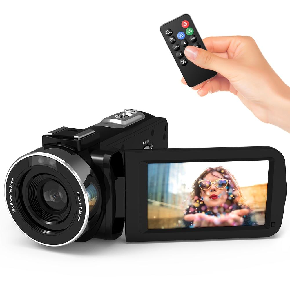 Andoer 1080P HD WiFi cyfrowa kamera wideo kamera DV rejestrator 16X Zoom IR Night Vision z gorącą stopką do zewnętrzny mikrofon w Kamery użytkowe od Elektronika użytkowa na AliExpress - 11.11_Double 11Singles' Day 1