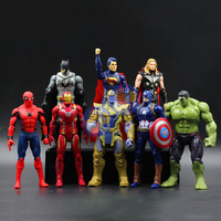 8 pcs/set Marvels Avengers Thor Hulks Iron Man Action Figure Anime Mini Decoration PVC Collection Figurine Juguete Brinquedo Toy