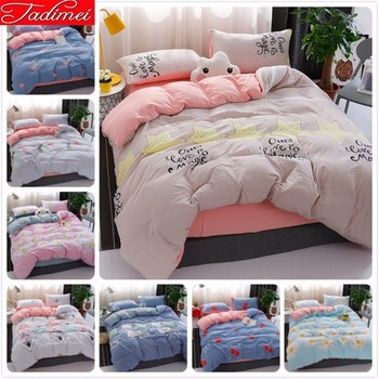 150x200 180x220 200x230 220x240 Duvet Cover Bedding Set Adult Kids Soft Cotton Bed Linen Single Twin Queen King Size Bedspreads
