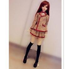 Кукольная одежда школьная форма включает в себя белые футболки, пальто, короткие юбки, модная кукольная одежда для 1/3 1/4 BJD DD MSD кукол